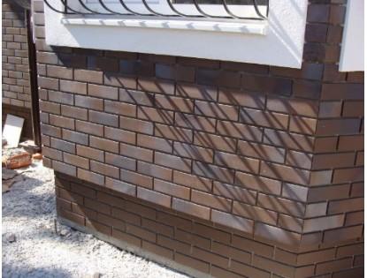 Клинкерная плитка для цоколя под камень
