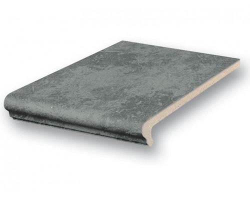 Клинкерная ступень флорентинер Stroeher ROCCIA 845 nero 25, 9240, 340x240x12 мм