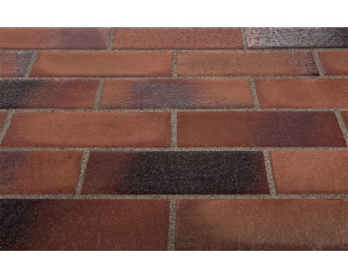 Тротуарная клинкерная плитка Stroeher 124 braun-blau, 240x115x18 мм