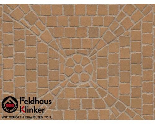 Клинкерная брусчатка мозаика Feldhaus Klinker M203DF areno trigo, DF (мозаика) 240x118x52 мм