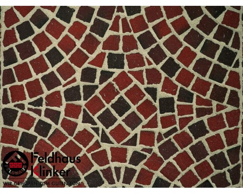 Клинкерная брусчатка мозаика Feldhaus Klinker M403DF gala flamea, DF (мозаика) 240x118x52 мм