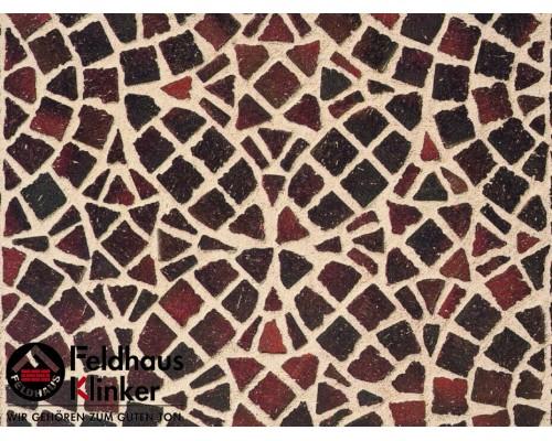 Клинкерная брусчатка мозаика Feldhaus Klinker M409DF gala ferrum, DF (мозаика) 240x118x52 мм