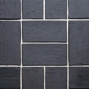 Клинкерная брусчатка Roben Schwabing schwarz-nuanciert, gefast, 200x100x40 мм