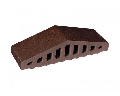 Профильный кирпич King Klinker Коричневый глазурованный (02) Brown-glazed, 310/250x100x78 мм