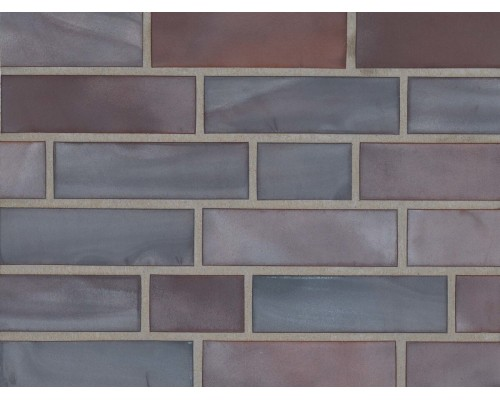 Клинкерная фасадная плитка Stroeher Keravette 325 achatblau bunt, арт. 2110, NF11 240x71x11 мм