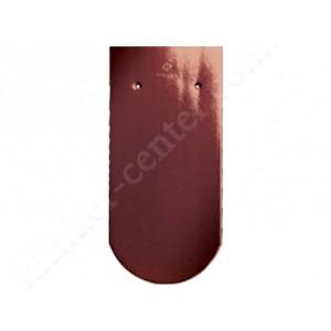 Черепица Бобровый хвост CREATON Biber Klassik Finesse , коричневая глазурь