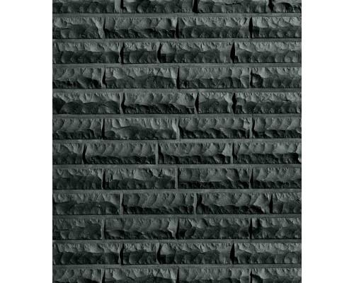 Клинкерный кирпич Roben QUEBEC schwarz-nuanciert, bossiert, NF 240x115x71 мм