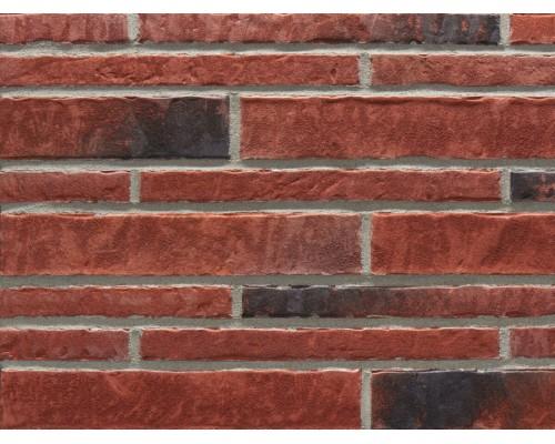 Фасадная плитка (ригель) Stroeher Zeitlos 353 eisenrost, ригель 400x35x14 мм