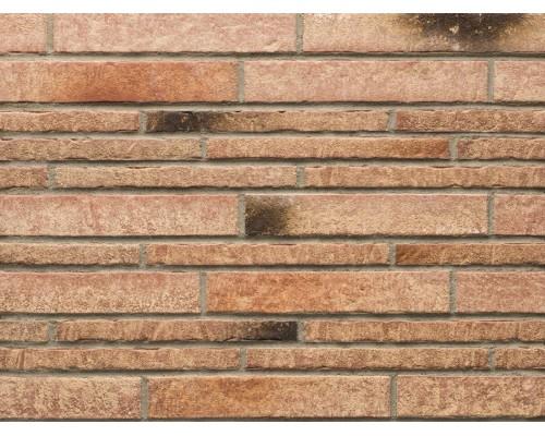 Фасадная плитка (ригель) Stroeher Zeitlos 357 backstein, ригель 400x35x14 мм