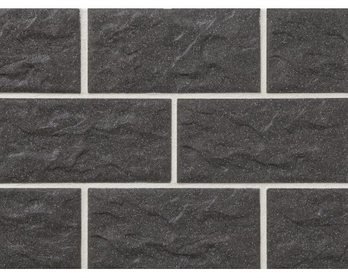 Клинкерная фасадная плитка Stroeher Kerabig KS05 anthrazit, арт. 8430, формат 30-15 302x148x12 мм