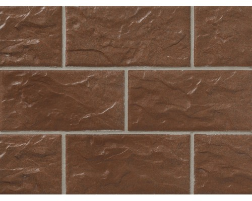 Клинкерная фасадная плитка Stroeher Kerabig KS13 tabakbraun, арт. 8430, формат 30-15 302x148x12 мм
