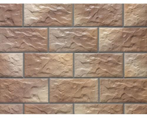 Клинкерная фасадная плитка Stroeher Kerabig KS14 braun-bunt, арт. 8430, формат 30-15 302x148x12 мм