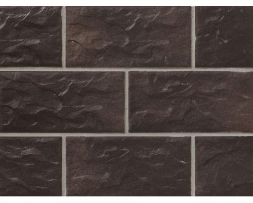 Клинкерная фасадная плитка Stroeher Kerabig KS15 schokobraun, арт. 8430, формат 30-15 302x148x12 мм